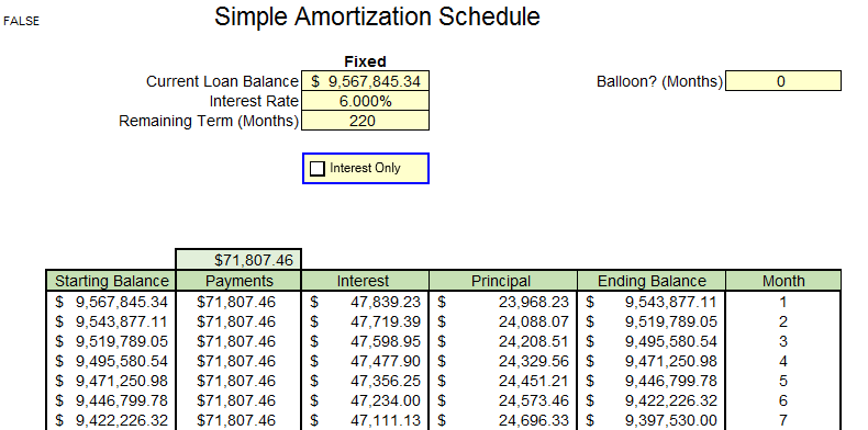 simple amortization schedule excel cfo